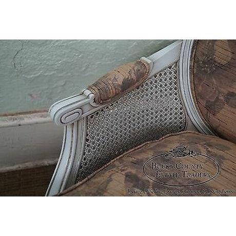 Quality French Louis XVI Style Painted Chaise Lounge For Sale - Image 11 of 13