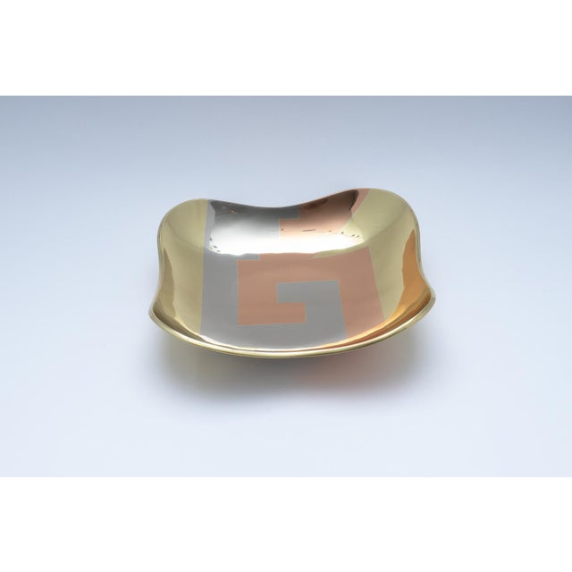 Mid-Century Modern Mixed Metal Dish by Los Costillos 1960s For Sale - Image 3 of 10