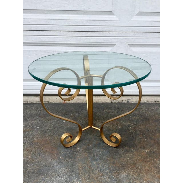 Iron Gilt Side Table For Sale - Image 4 of 5