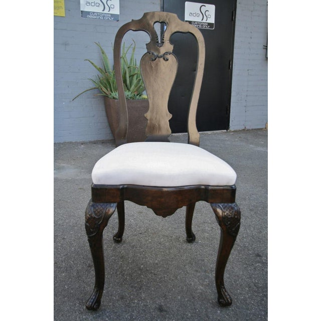 Wood 19th Century Dutch Library Desk Table and Chairs Set For Sale - Image 7 of 9