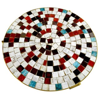 Mosaic Tile Top Table For Sale