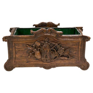 Antique Hand-Carved French Herb Planter For Sale