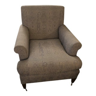 Modern Traditional Club Chair For Sale