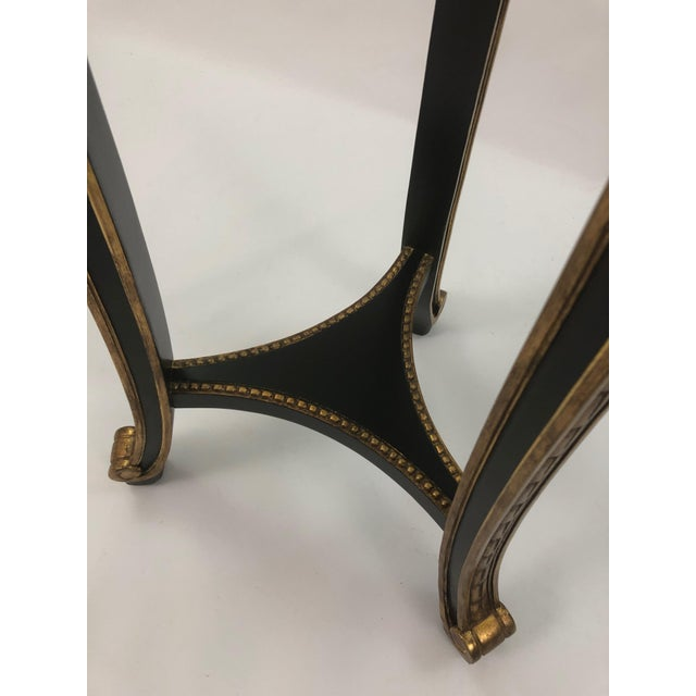 Hollywood Regency Regency Style Custom Black and Gold Stand For Sale - Image 3 of 10
