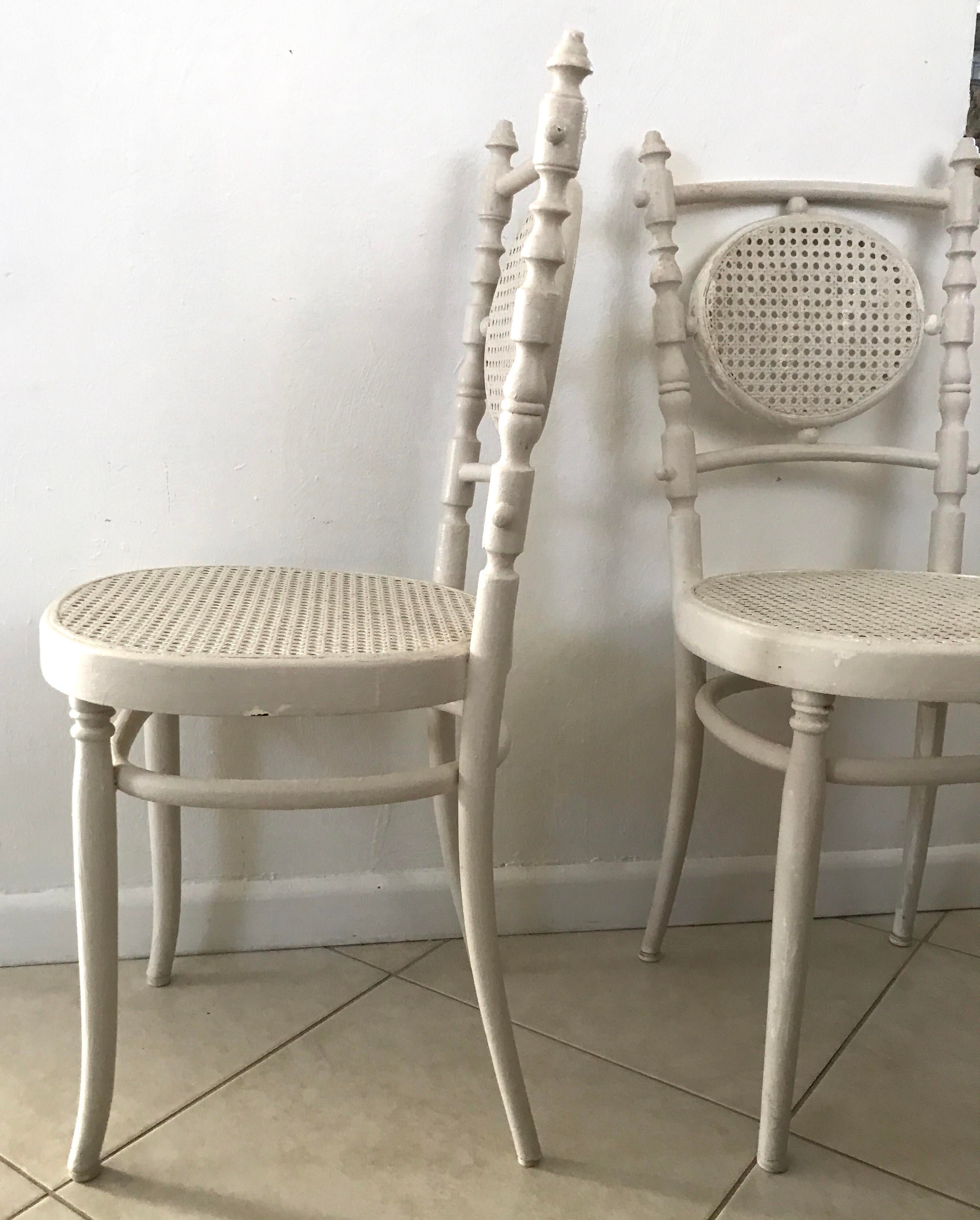 bentwood bistro chair. Antique 1913 Fischel Bentwood French Bistro Chairs - A Pair Image 4 Of 11 Chair