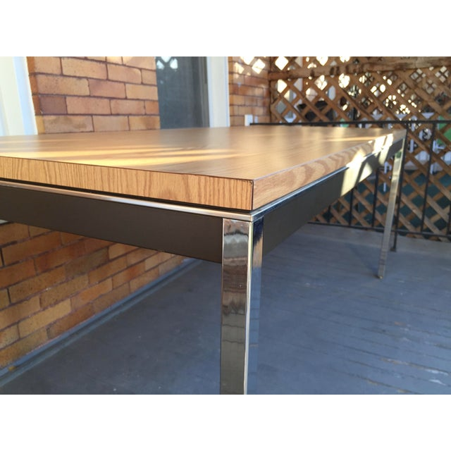 Steelcase Chrome and Oak Writing Desk - Image 10 of 11