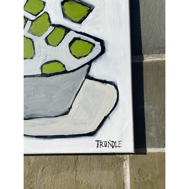 """Sarah Trundle """"Limes"""" Contemporary Abstract Still Life Acrylic Painting by Sarah Trundle For Sale - Image 4 of 4"""