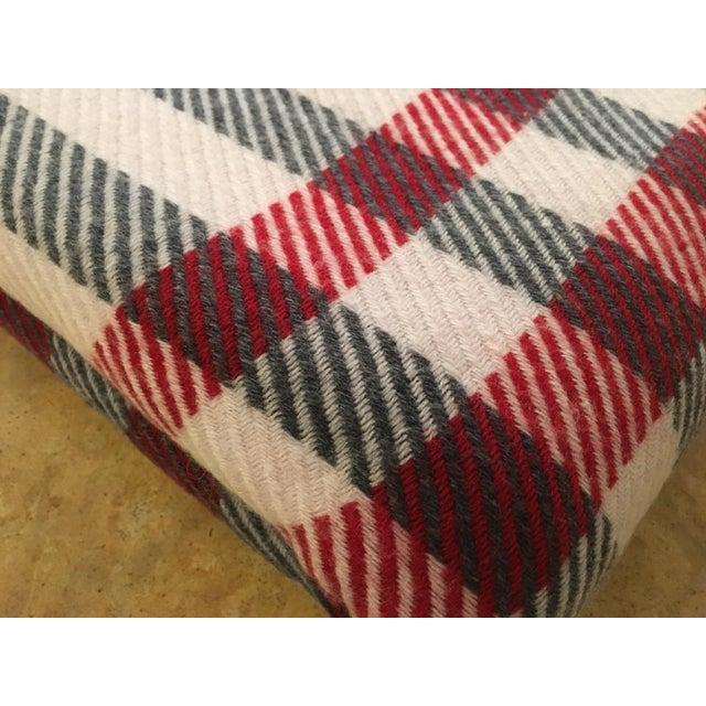 Black & Red Plaid Cashmere Blanket - Image 3 of 8