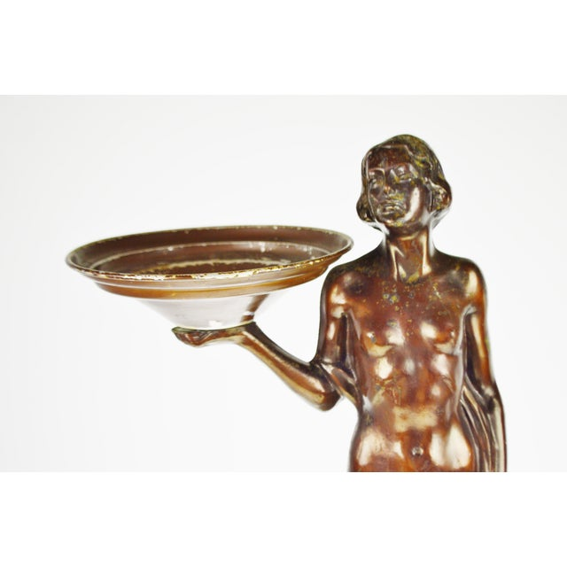 Art Deco Figural Lighted Ashtray Stand - Image 5 of 10