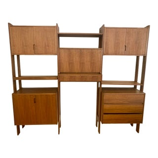 Mid Century Bookcase Wall Cabinet Bookcase Unit For Sale