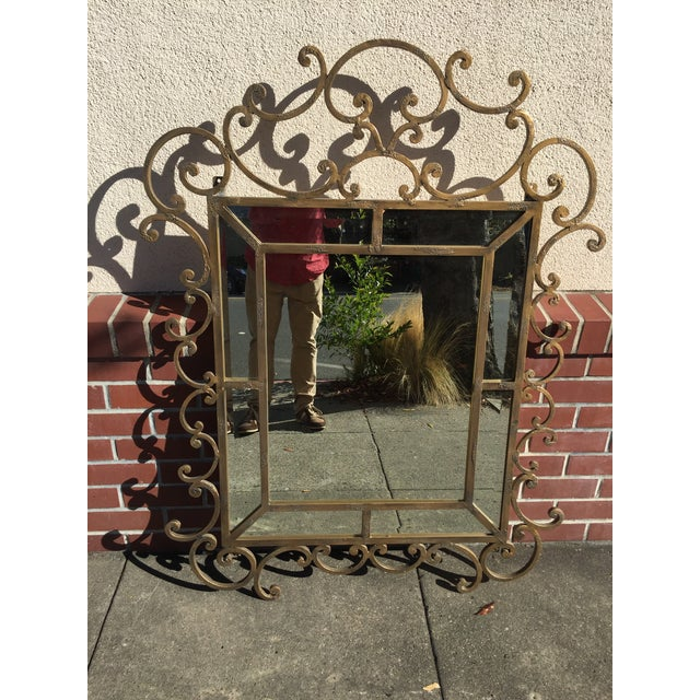 Kreiss Mirror Malaga Wrought Iron For Sale - Image 5 of 5
