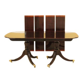 Stickley Banded Border Duncan Phyfe Mahogany Dining Table For Sale