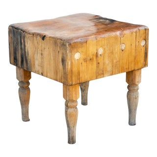 1800's Antique French Butcher Block For Sale