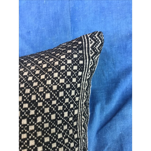 Tribal Wedding Quilt Textile Pillow - Image 4 of 6