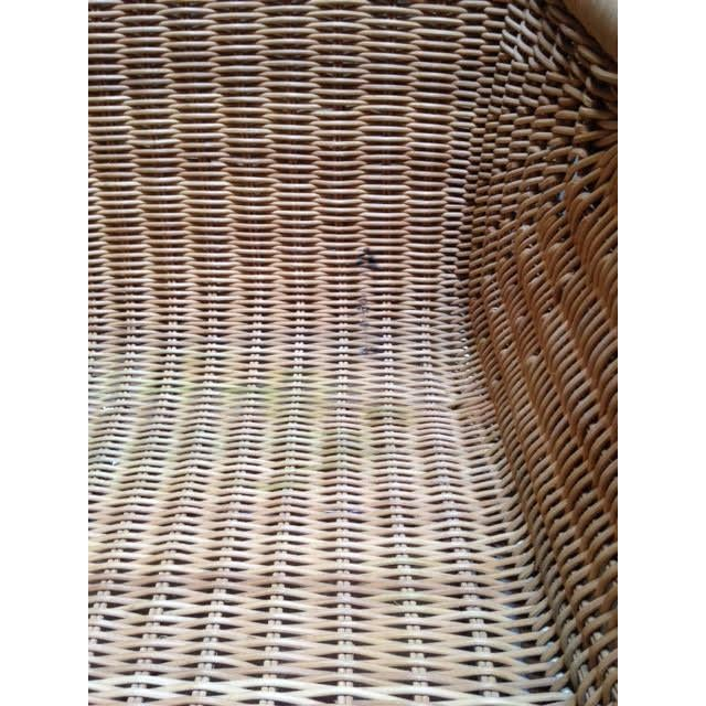 Harvey Probber Wicker & Chrome Chairs- Set of 6 - Image 6 of 7