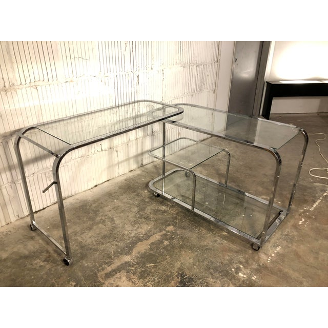 1970s Design Institute of America Chrome Bar Cart For Sale - Image 5 of 8