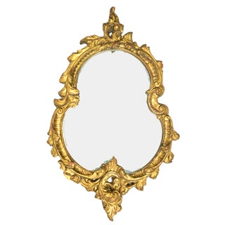 Vintage Italian Gold Gilt Mirror For Sale
