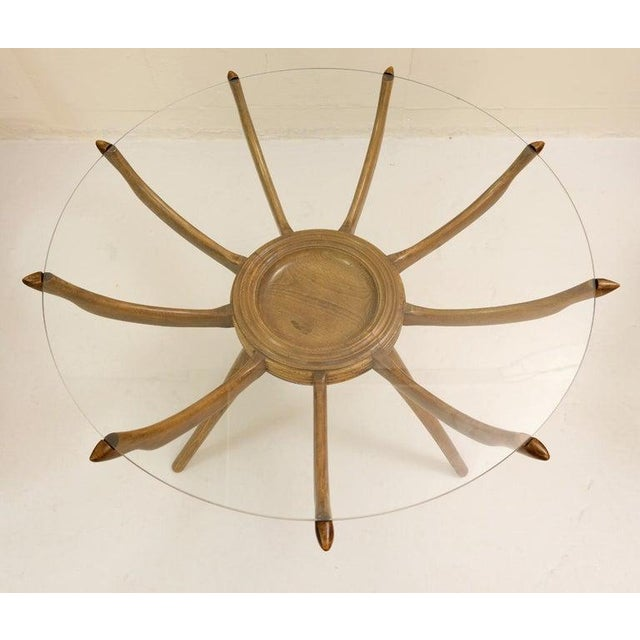 "1950s ""Ragno"" Side Table by Carlo De Carli, Italy, 1950s For Sale - Image 5 of 6"
