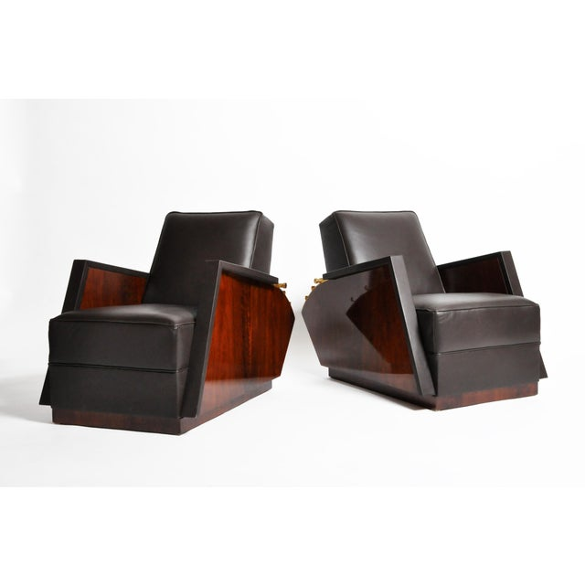 Italian Leather Reclinable Armchairs - a Pair For Sale - Image 13 of 13