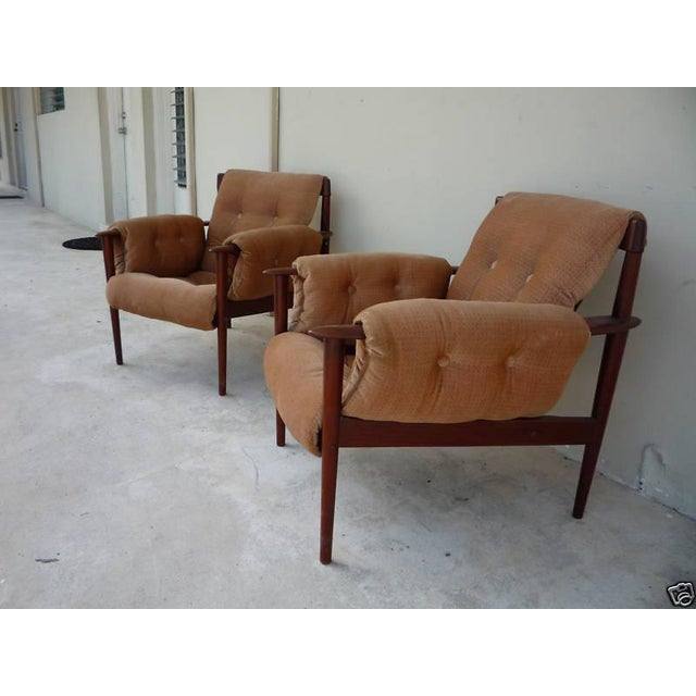 Poul Jeppesen 1950's Vintage Greta Jalk & Poul Jeppesen Chairs- A Pair For Sale - Image 4 of 11