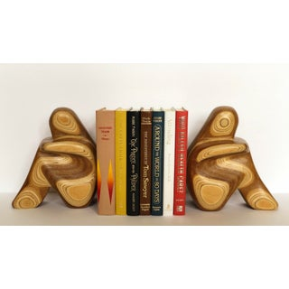 1970s Vintage R. Hargrave Plywood Sculptural Bookends - a Pair Preview