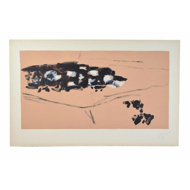 "Lithograph 1950s Vintage ""Transhumance"" Pierre Tal-Coat French Abstract Lithograph Print For Sale - Image 7 of 7"