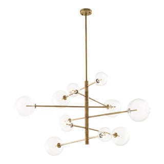 Brass Sputnik Chandelier | Eichholtz Argento L For Sale