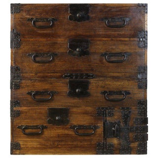 Early 20th Century Japanese Tansu Chest For Sale