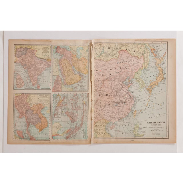 Cram's 1907 Map of Korea For Sale In New York - Image 6 of 8