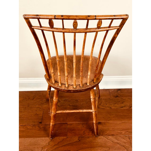 Early 19th Century Antique Fan Back Windsor Chair For Sale - Image 4 of 9