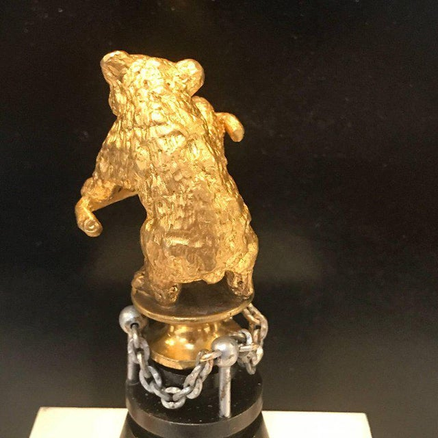 "19th Century Russian Ormolu ""Dancing Bear"" Sculpture For Sale In Atlanta - Image 6 of 11"
