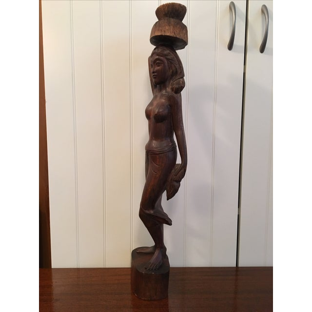 Vintage Wooden Beautiful Woman Statue - Image 9 of 9