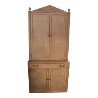 Vintage Neoclassical Painted Cabinet For Sale