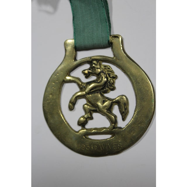 Antique English Horse Brass Red Lion Ornament - Image 3 of 3