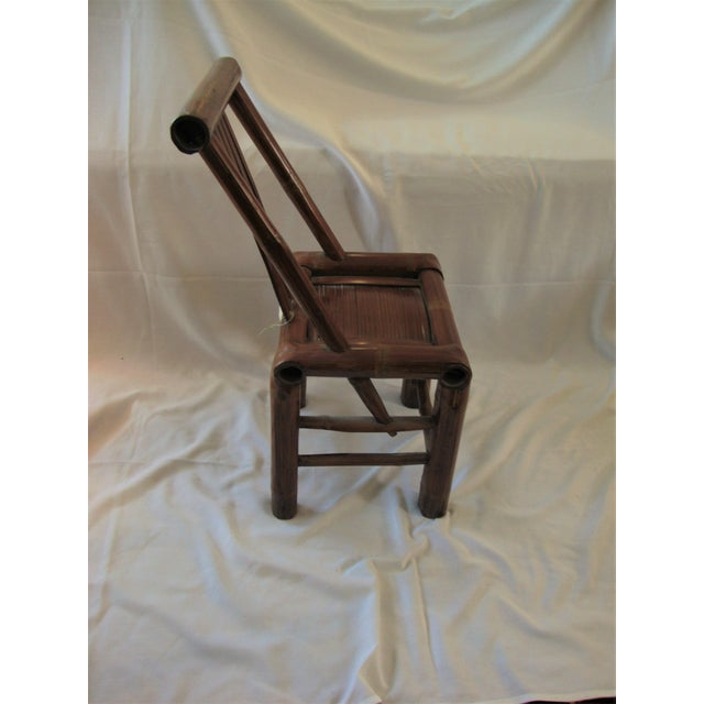 Primitive Bamboo Chairs- A Pair - Image 7 of 8