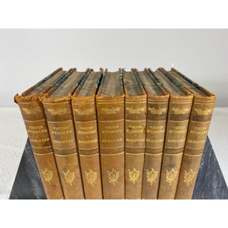 1929 Antique Swedish Leather Books - Set of 6 Preview