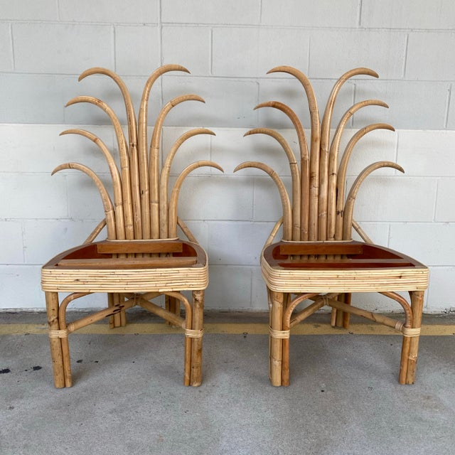 Palm Frond Dining Chairs - a Pair For Sale - Image 10 of 10