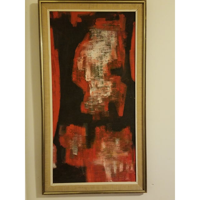 Mid-Century Abstract Oil Painting - Image 2 of 8