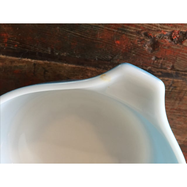 Pyrex Blue Snowflake Casserole Dish For Sale - Image 5 of 8
