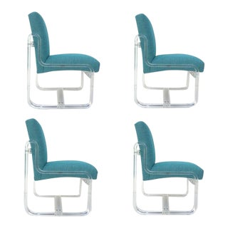 Acrylic Dining Chairs by Vivid - Set of 4 For Sale