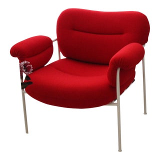 Red Bollo Scandinavian Lounge Chair For Sale