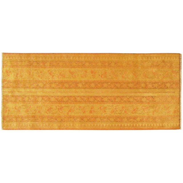 1900 - 1909 Early 20th Century Antique Indian Agra Rug - 5′ × 2′1″ For Sale - Image 5 of 5