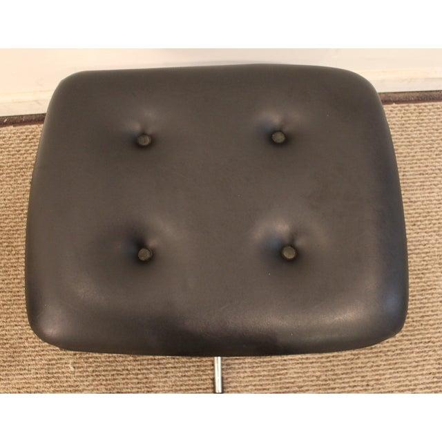Overman Mid-Century Black Chrome Swivel Ottoman/Foot Stool For Sale - Image 5 of 11