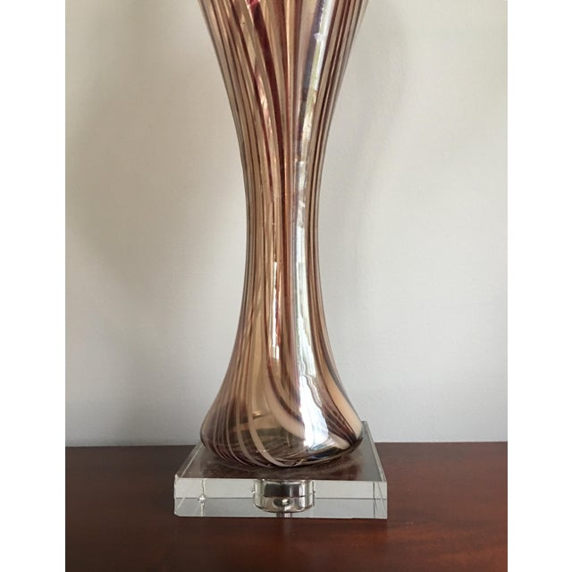 Monumental Modern Blown Glass Table Lamp For Sale - Image 4 of 9