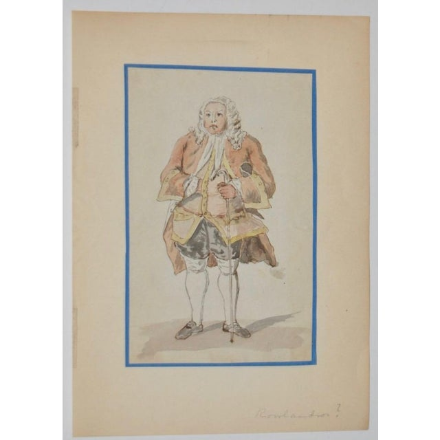 19th Century Pen, Ink & Watercolor Illustration in the School of Rowlandson - Image 2 of 4