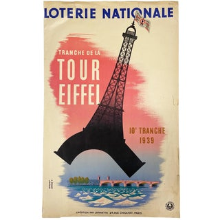 1939 Vintage Poster 'Loterie Nationale' From France For Sale