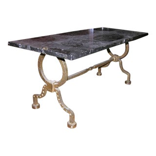 Gilbert Poillerat Coffee Table For Sale