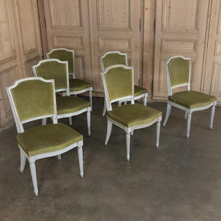 Set of 6 Antique French Louis XVI Painted Dining Chairs Preview