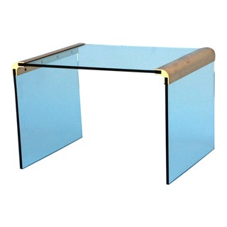 Gilt Bronze and Glass Side Table by Pace Collection For Sale