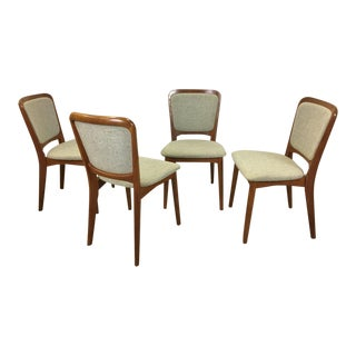 Set of Four Koefoed Larsen Teak Dining Chairs For Sale